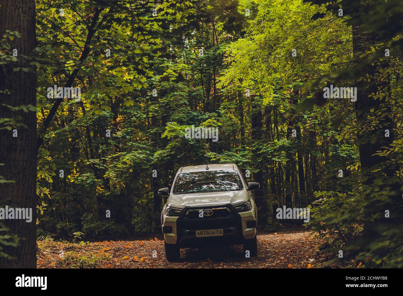 Ufa Russia 3 June 2020 Toyota Hilux Suv Truck In White Color On The Street Road 3 June 2020 Stock Photo Alamy