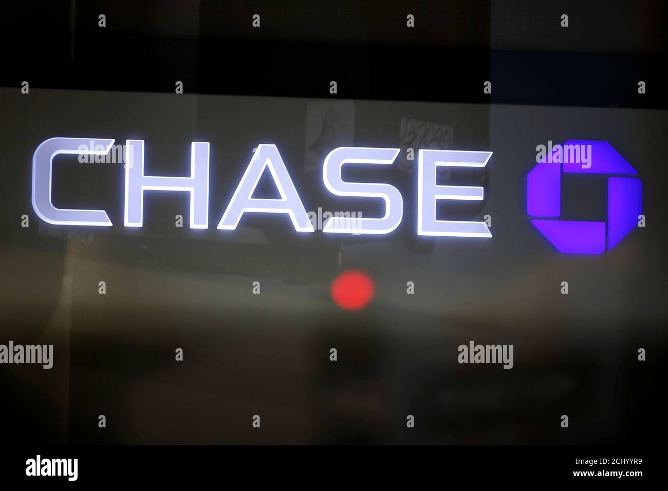 The Logo Of Dow Jones Industrial Average Stock Market Index Listed Company Chase Jpm Is Seen