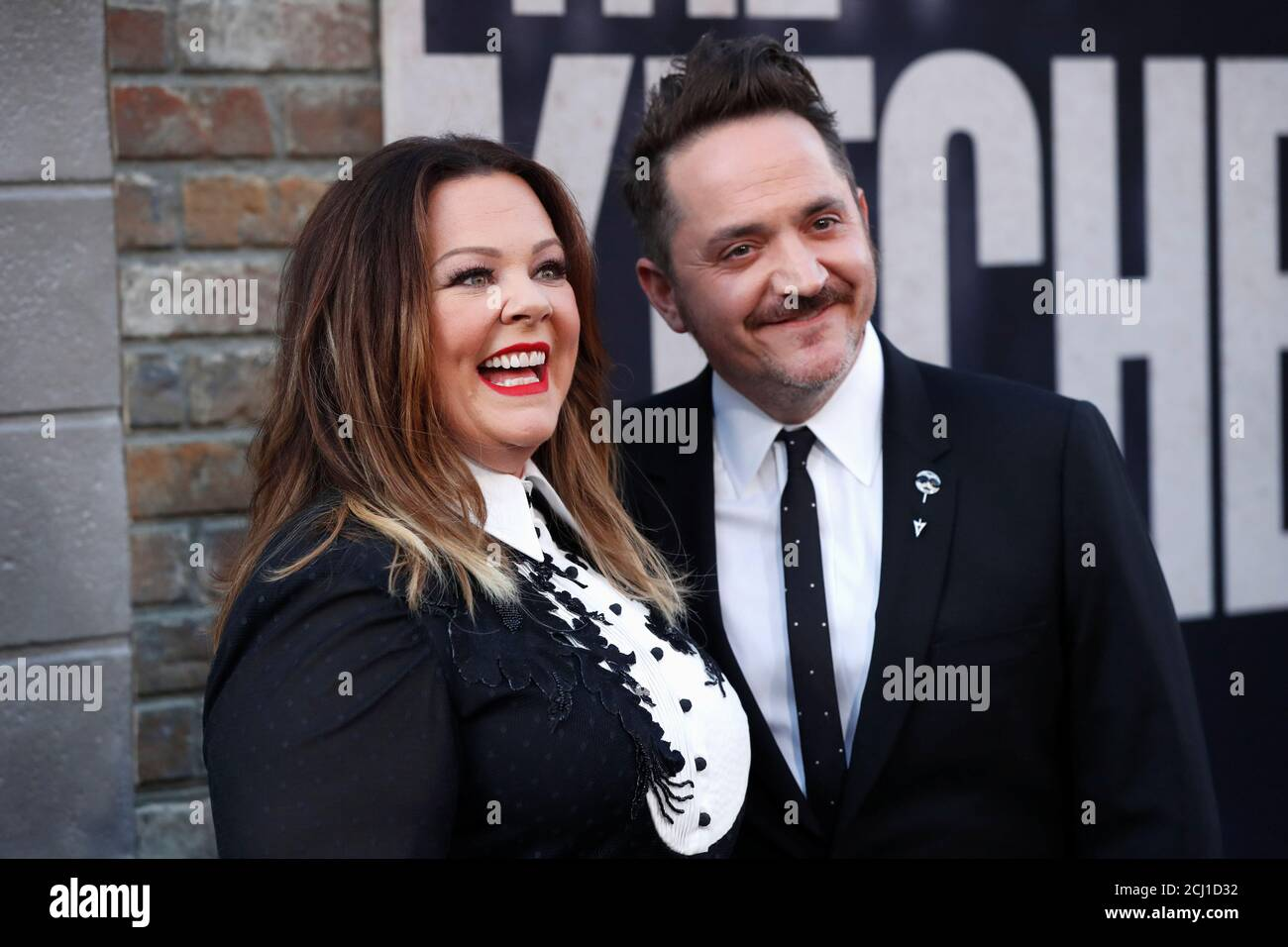 Cast Member Melissa Mccarthy Attends The Premiere For The Movie The Kitchen With Husband Benjamin Falcone In Los Angeles California U S August 5 2019 Reuters Mario Anzuoni Stock Photo Alamy