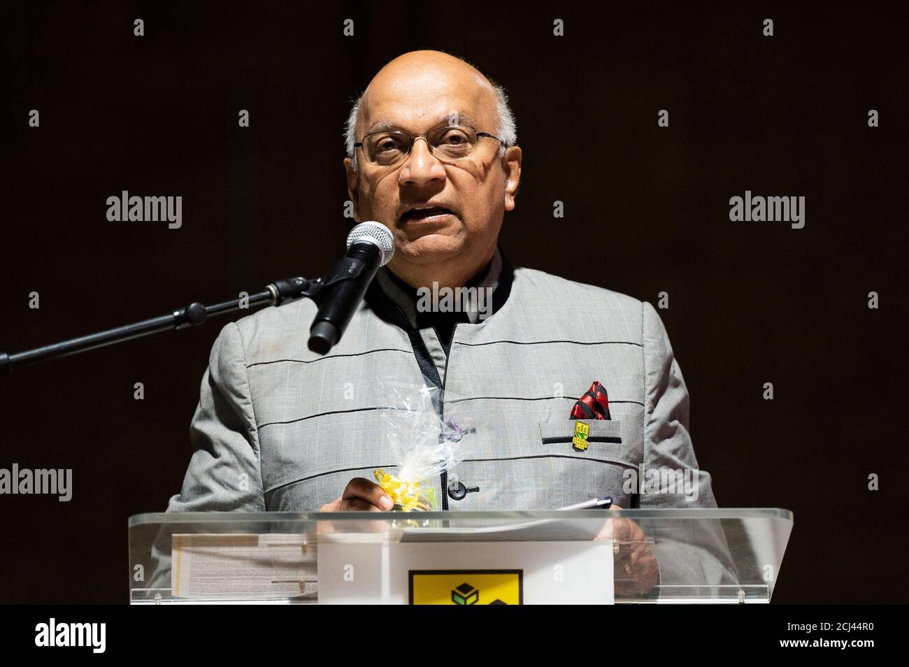 Wilmington, DE, USA. 14th Sep, 2020. September 14, 2020 - Wilmington, DE, United States: AJIT GEORGE, Founder and Manager of Second Chances Farms, speaking at Second Chances Farms. Credit: Michael Brochstein/ZUMA Wire/Alamy Live News Stock Photo