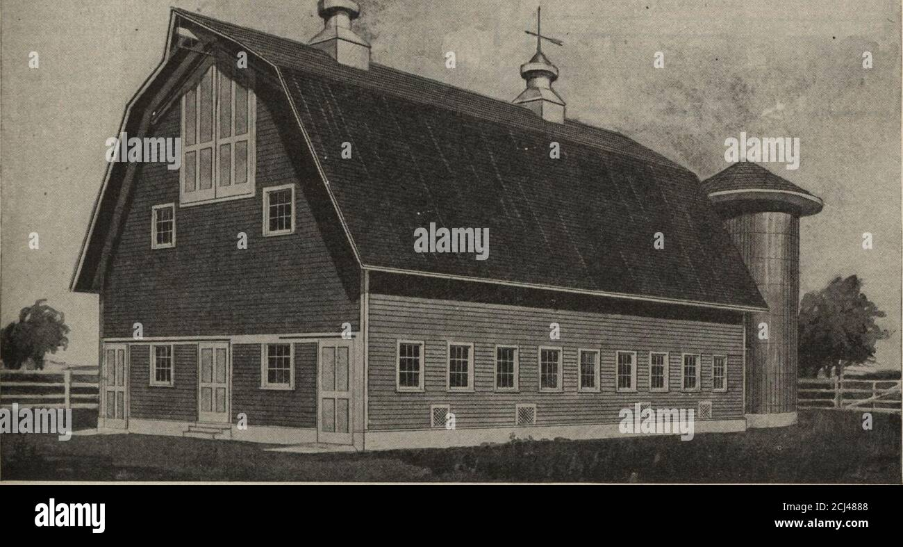 Our Farm And Building Book Plan Arranged For Cow And Horse Stable No A2495 L