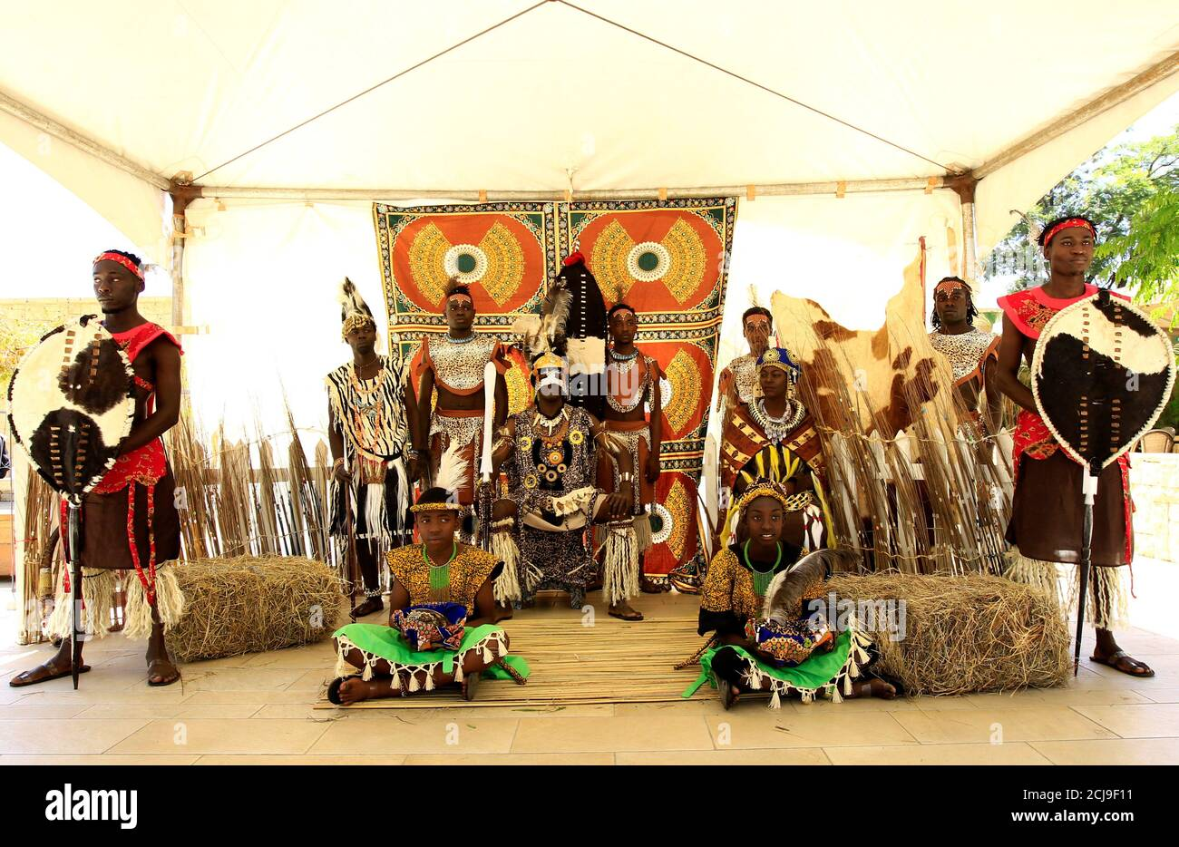 Cast Members Of The Utamaduni Ngoma Dance Group Perform The African King S Journey To Christmas Play In Nairobi Kenya December 19 2019 Reuters Njeri Mwangi Stock Photo Alamy