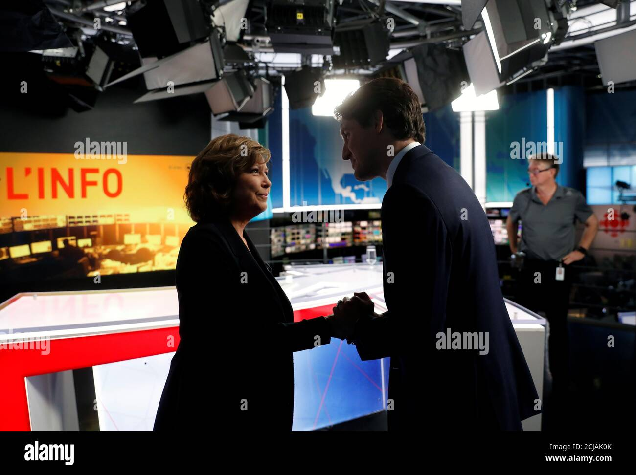 Liberal Leader And Canadian Prime Minister Justin Trudeau Takes Part In A Tv Interview With Journalist