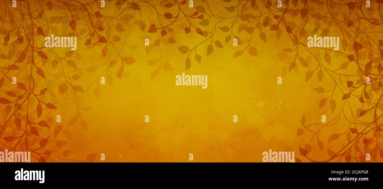 orange autumn background with red leaves and ivy vines in fall border design with yellow gold texture colorful nature frame pattern stock photo alamy alamy