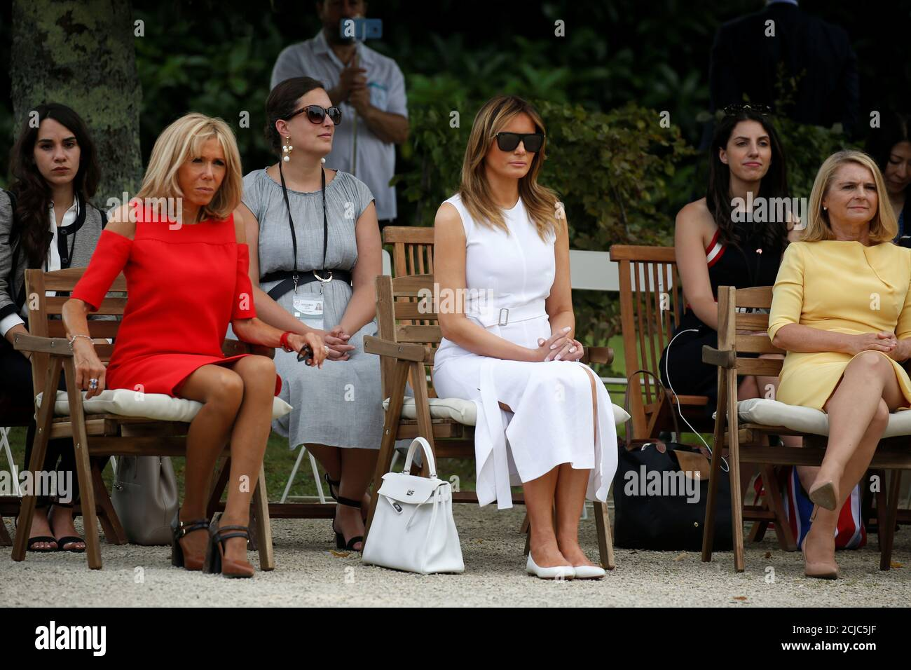 Brigitte Macron Wife Of French President Emmanuel Macron U S First Lady Melania Trump And Malgorzata Tusk