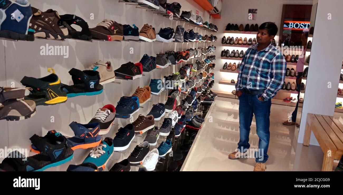 Sparx footwear showroom Stock Photo