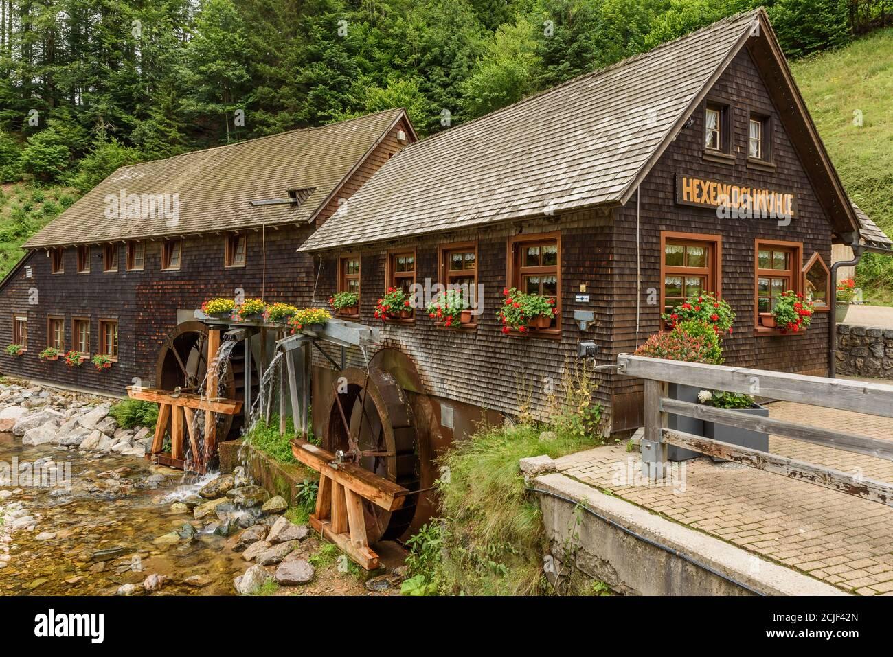 Hexenloch Mill, water mill near Furtwangen in the Black Forest, Baden-Wuerttemberg, Germany Stock Photo