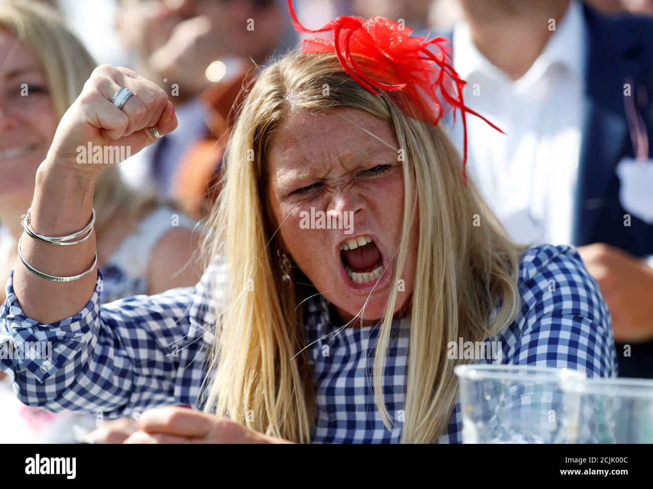 Horse Racing - Derby Festival - Epsom Downs Racecourse, Epsom, Britain - June 1, 2018   Racegoer during the 4.30 Investec Oaks   REUTERS/Peter Nicholls     TPX IMAGES OF THE DAY Stock Photo
