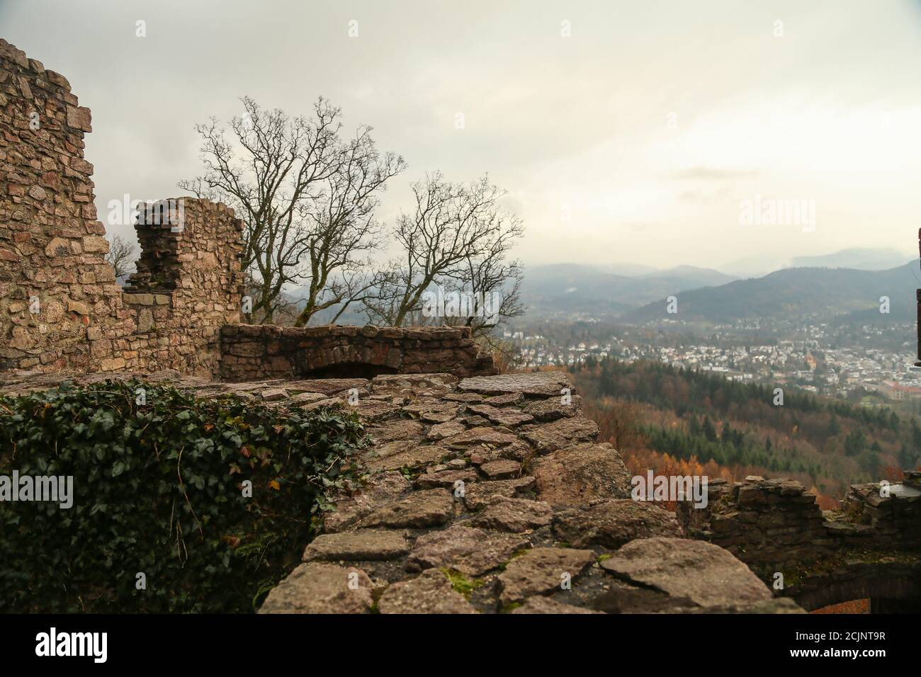 Hohenbaden castle in Baden-Baden, Germany Stock Photo