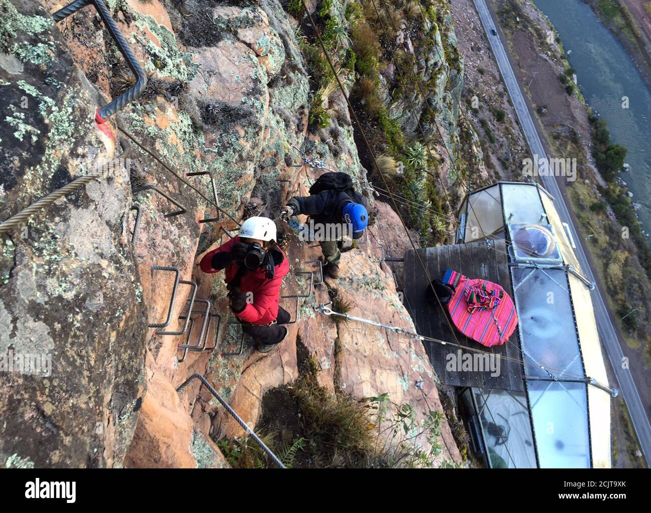 Reuters Photographer Pilar Olivares Documents The Skylodge Adventure Suites In The Sacred Valley In Cuzco Peru August 14 2015 Tourists Taking On An Arduous Climb Up The Steep Cliff Face Of Peru S