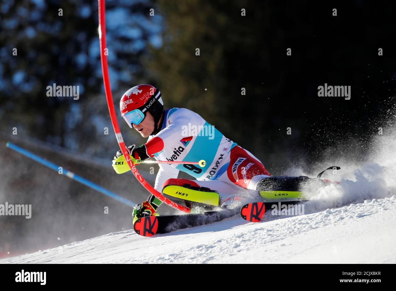 Alpine Skiing Slalom Adelboden Switzerland January 12 2020 Switzerland S Loic Meillard In Action Reuters Stefan Wermuth Stock Photo Alamy