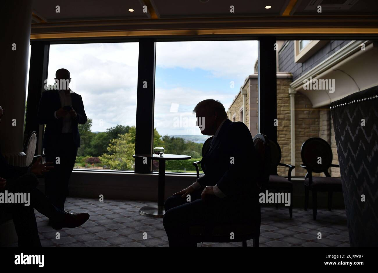 Boris Johnson A Leadership Candidate For Britain S Conservative Party Gives A Television Interview Before A Hustings