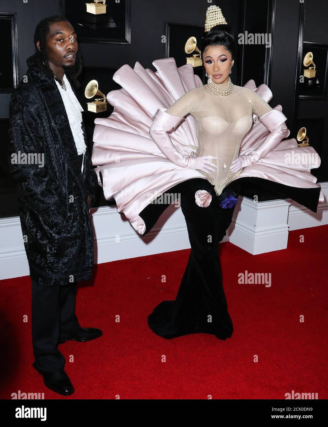 Los Angeles, United States. 15th Sep, 2020. (FILE) Cardi B Files for Divorce from Offset After 3 Years of Marriage. LOS ANGELES, CALIFORNIA, USA - FEBRUARY 10: Rapper Offset (Kiari Kendrell Cephus) and wife/rapper Cardi B (Belcalis Marlenis Almanzar) arrive at the 61st Annual GRAMMY Awards held at Staples Center on February 10, 2019 in Los Angeles, California, United States. (Photo by Xavier Collin/Image Press Agency) Credit: Image Press Agency/Alamy Live News Stock Photo
