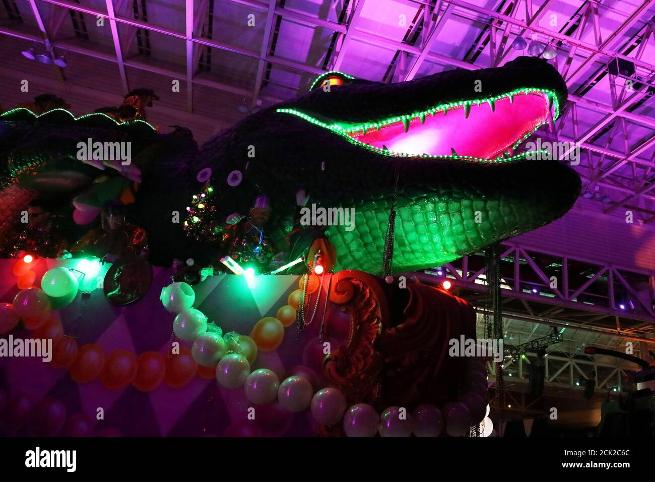 A float makes its way through the Bacchus parade during Mardi Gras in New Orleans, Louisiana U.S., February 26, 2017. REUTERS/Shannon Stapleton Stock Photo
