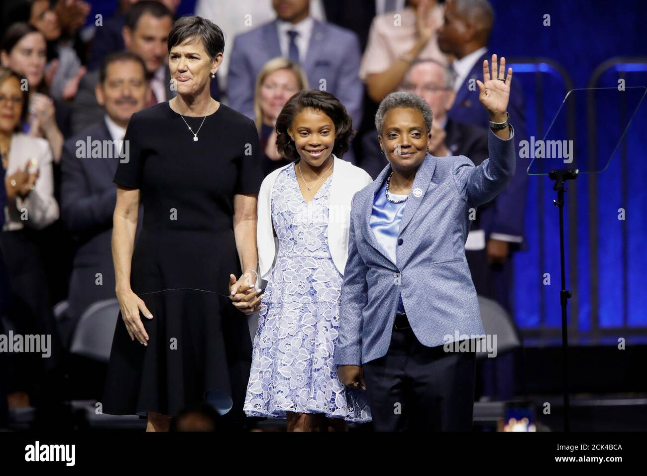Lori Lightfoot R Waves To The The Crowd Next To Wife Amy Eshleman L And Daughter From left, lori lightfoot, daughter vivian and wife amy eshleman, celebrating lightfoot's mayoral win in chicago on april 2. https www alamy com lori lightfoot r waves to the the crowd next to wife amy eshleman l and daughter vivian c after speaking after being sworn in as chicagos 56th mayor during an inauguration ceremony at wintrust arena in chicago illinois us may 20 2019 reuterskamil krzaczynski image373192970 html