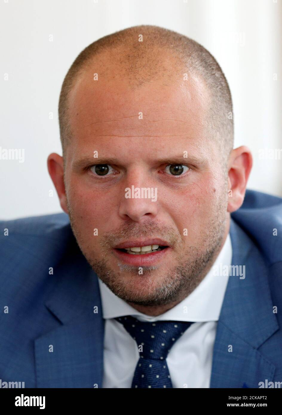 Belgium S Asylum And Migration State Secretary Theo Francken Speaks During An Interview With Reuters In Brussels Belgium May 11 2017 Reuters Francois Lenoir Stock Photo Alamy