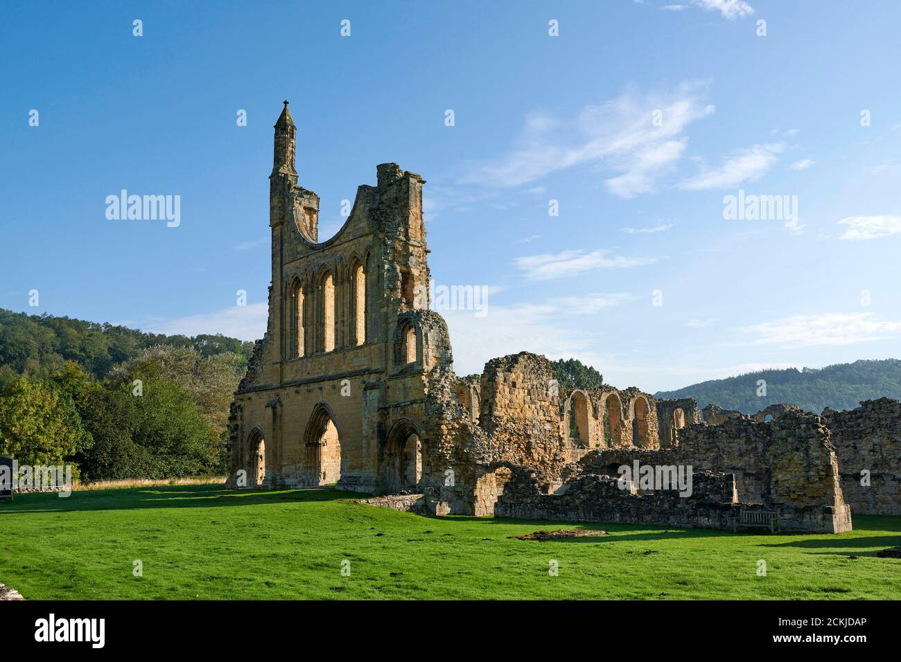 Byland Abbey, Coxwold, in the Ryedale district of North Yorkshire, England, in the North York Moors National Park Stock Photo