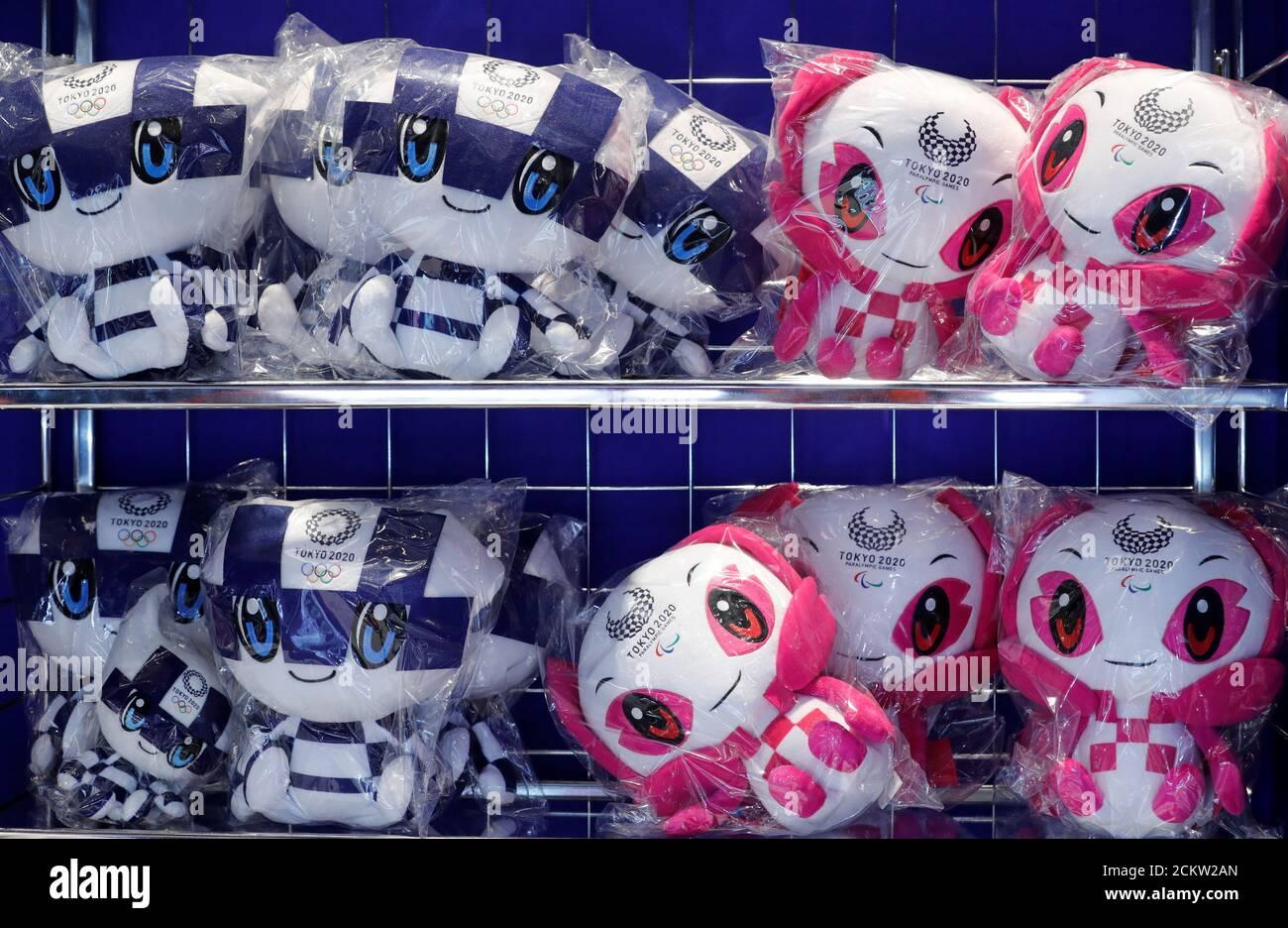 Tokyo 2020 Olympics Mascot Plush Doll Miraitwa Someti Stuffed Toy Pair Set New A