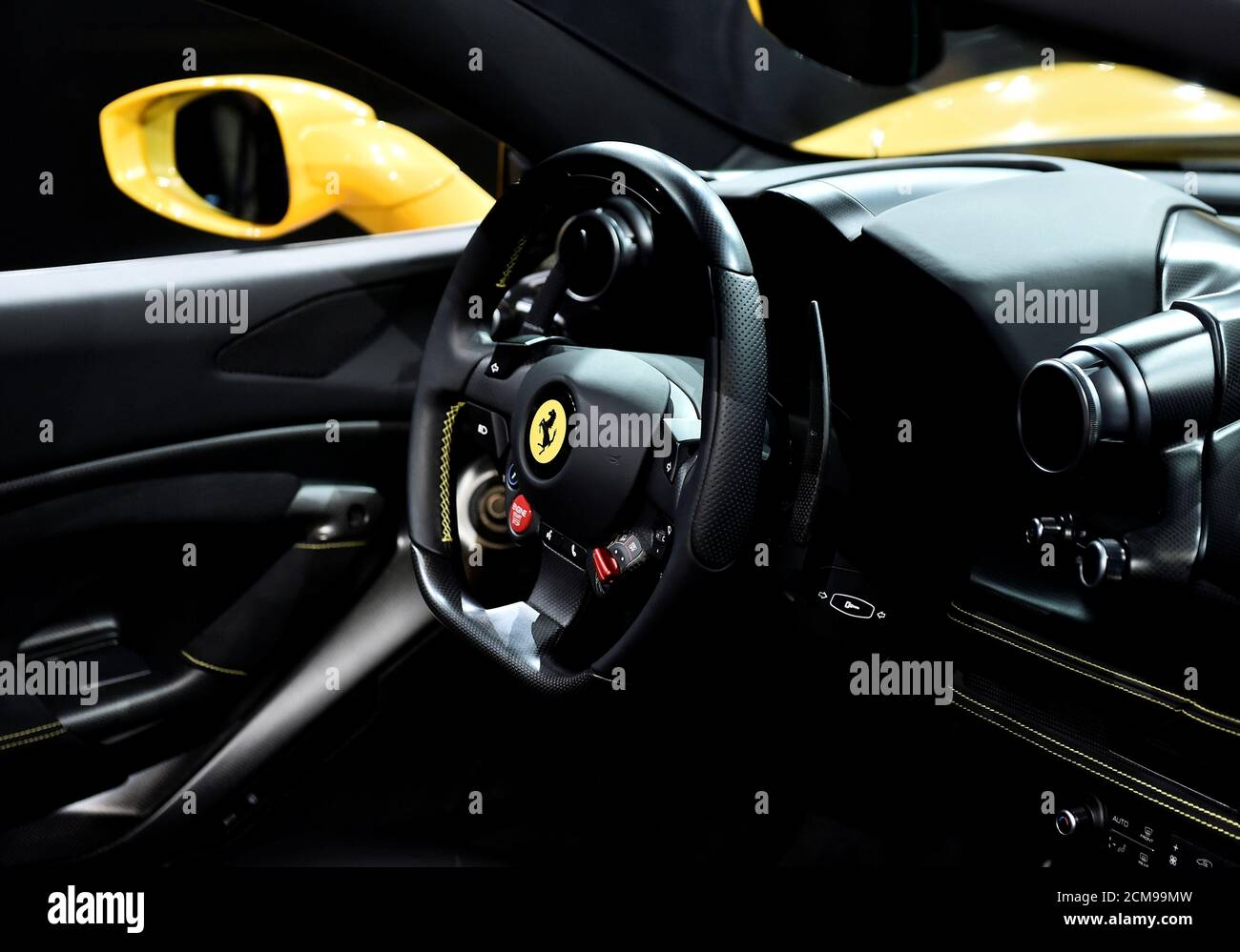 Details Of Interior Of Ferrari F8 Spider Are Pictured As It Is Unveiled During A Presentation Of Two New Ferrari Models At An Event At The Company S Headquarters In Maranello Italy September