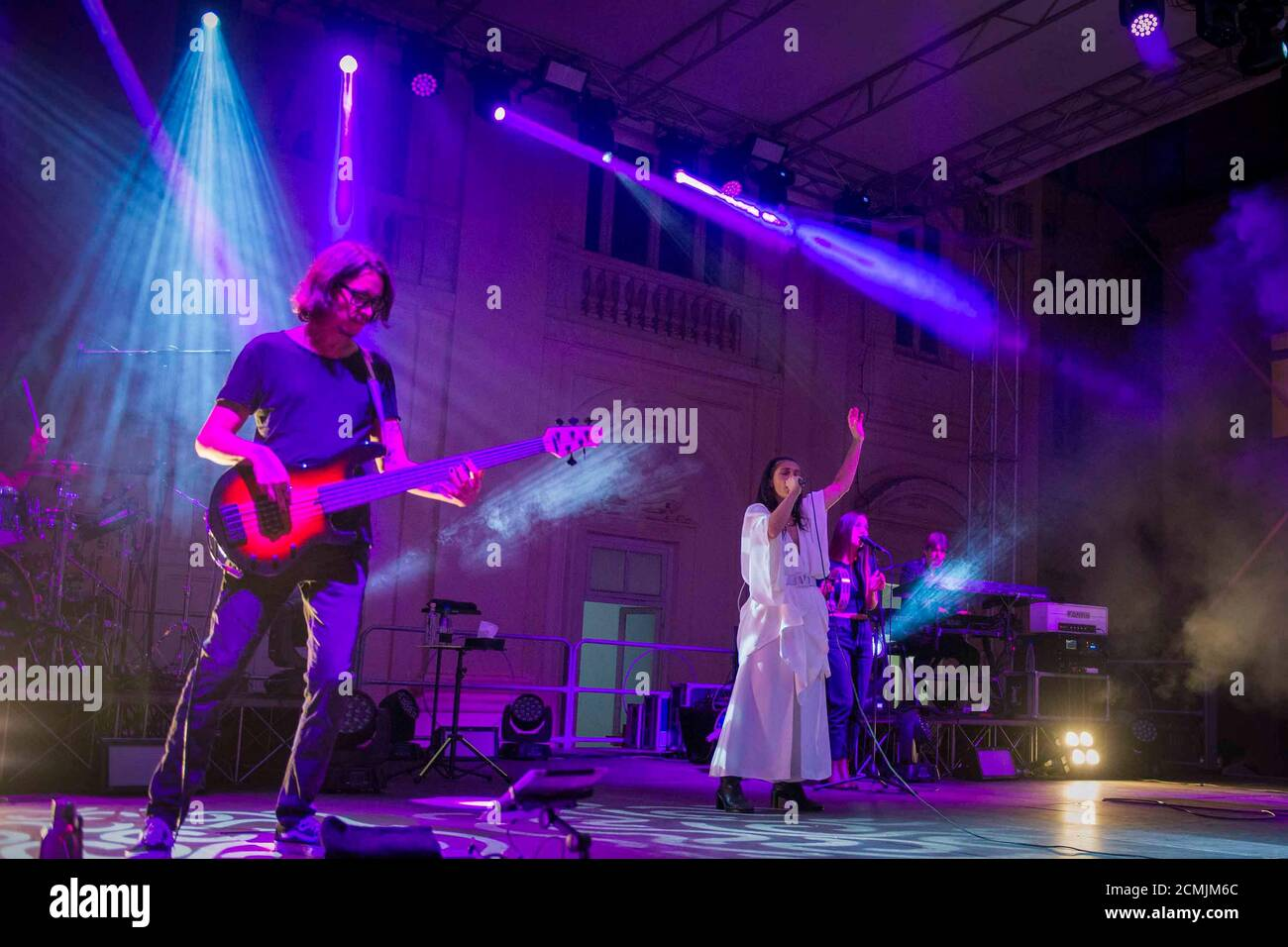 Napoli, Italy. 15th Sep, 2020. Elisa live at the Belvedere of San Leucio in Caserta, Italy on September 15, 2020. Elisa Toffoli is an Italian singer-songwriter, composer, multi-instrumentalist, musician and record producer. (Photo by Massimo Solimene/Pacific Press/Sipa USA) Credit: Sipa USA/Alamy Live News Stock Photo