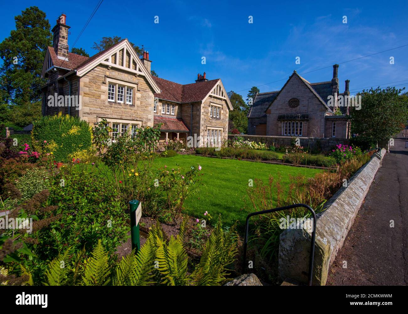 Ford village one of England's most northerly villages which was rebuilt in the 19th century by Lady Waterford Stock Photo