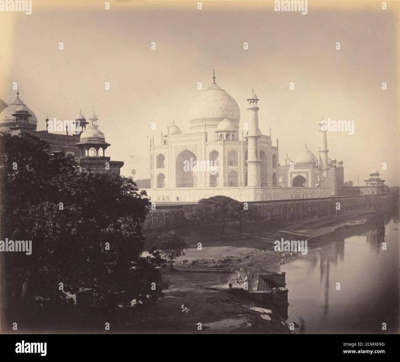 John Saché (French, active India 1860 - 1880s) - (The Taj Mahal ...