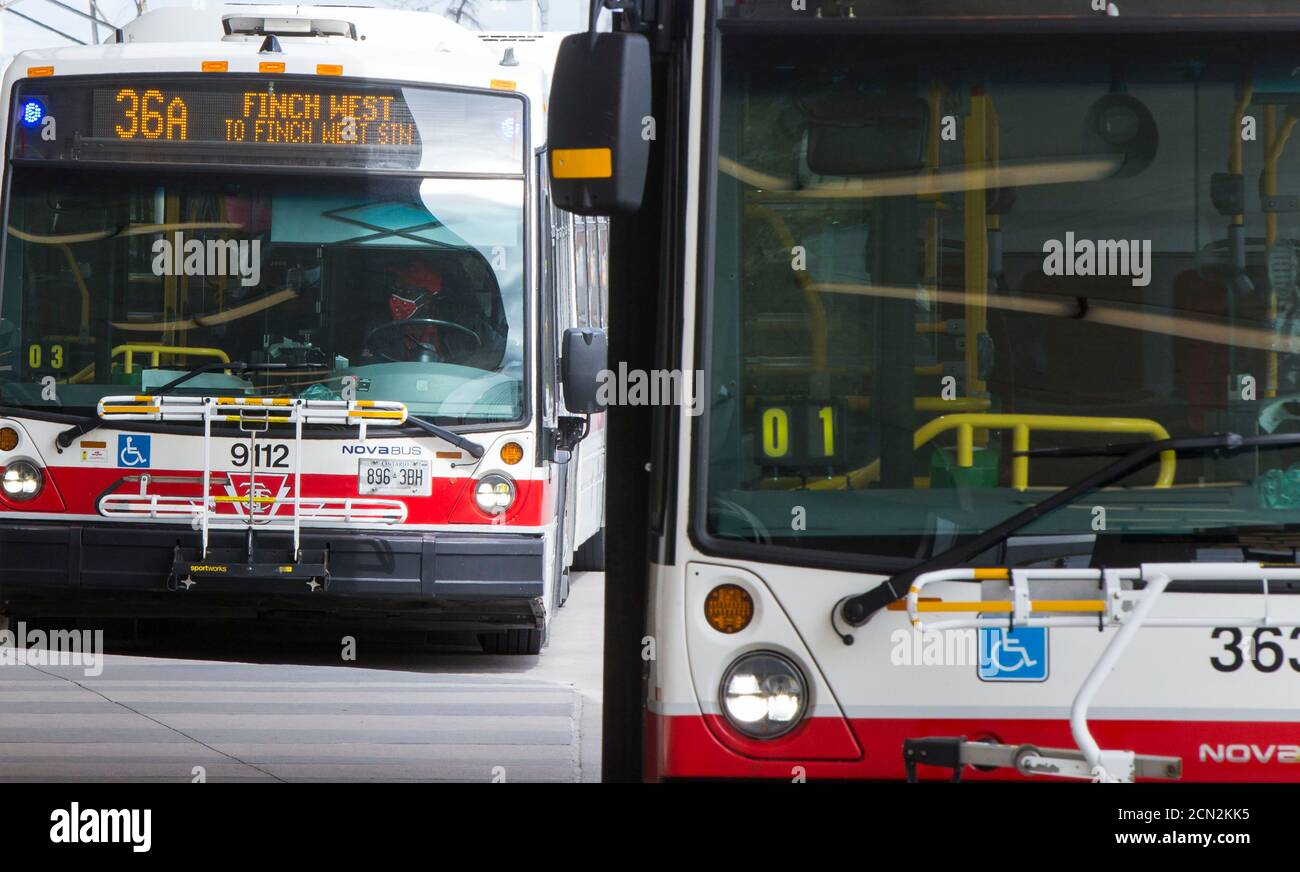 toronto-canada-17th-sep-2020-a-ttc-bus-driver-wearing-a-face-mask-is-seen-on-a-bus-in-toronto-canada-on-sept-17-2020-starting-on-thursday-face-coverings-or-masks-are-mandatory-in-all-shared-ttc-toronto-transit-commission-spaces-both-indoors-and-outdoors-this-also-applies-to-operators-when-they-are-behind-the-protective-barrier-or-in-the-cab-credit-zou-zhengxinhuaalamy-live-news-2CN2KK5.jpg