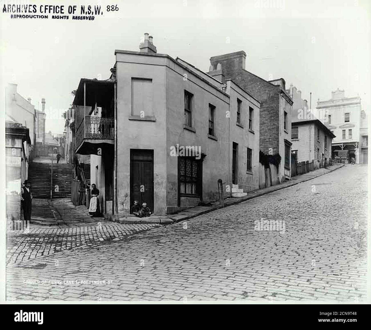 Ferry Lane and Pottinger Street, The Rocks   Stock Photo
