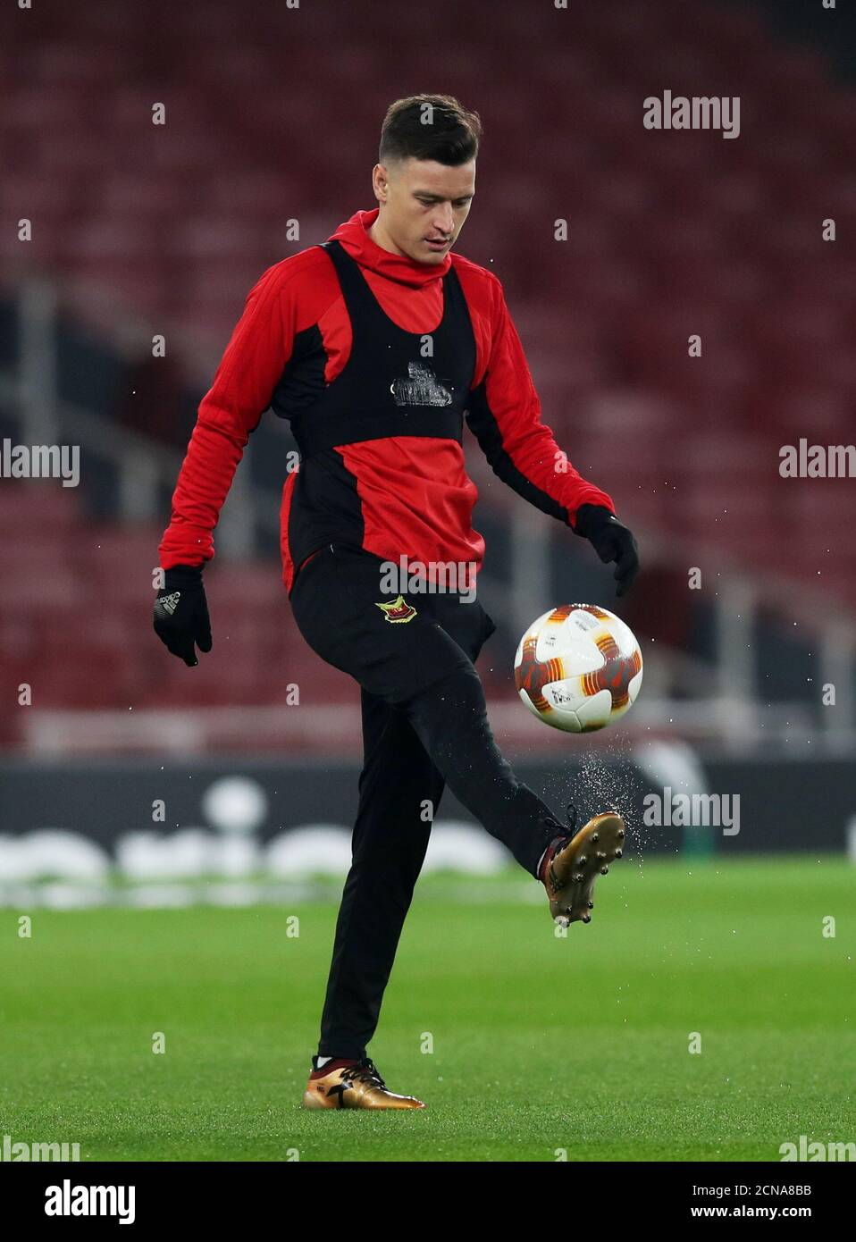 Soccer Football - Europa League - Ostersunds FK Training - Emirates Stadium, London, Britain - February 21, 2018   Ostersunds FK's Jamie Hopcutt during training   Action Images via Reuters/Peter Cziborra Stock Photo