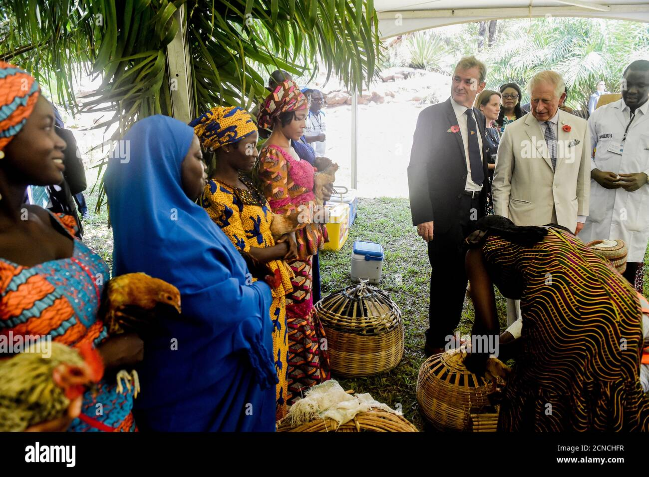 Britain S Charles Prince Of Wales Meets Women Involved In Securing Rural Livelihood At The Sarius Palmetum