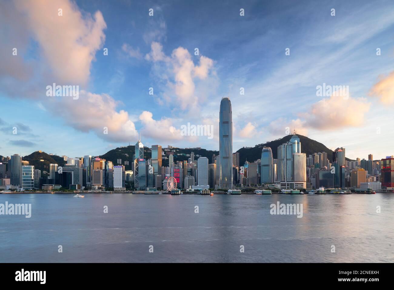 Skyline of Hong Kong Island, Hong Kong, China, Asia Stock Photo
