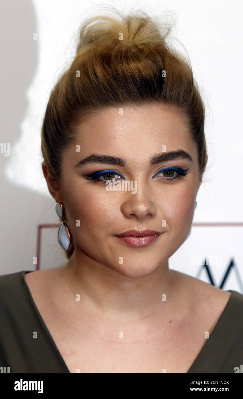 British actress Florence Pugh poses for photographers at the 36th London Critics' Circle Film Awards in London, Britain January 17, 2016. REUTERS/Neil Hall Stock Photo