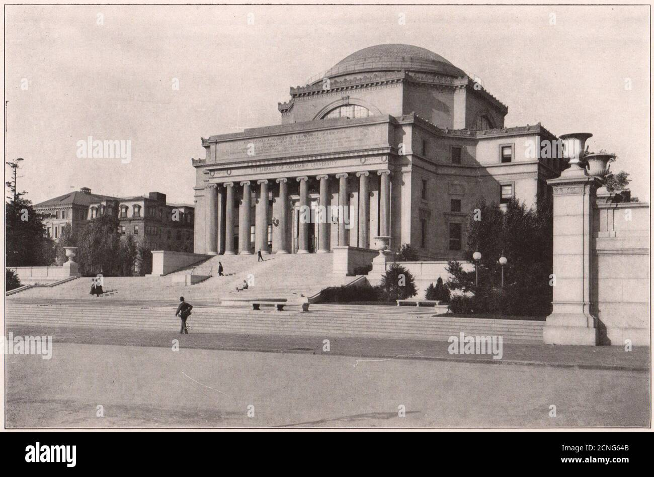 Columbia University: Library Building. New York. Low Memorial Library 1903 Stock Photo