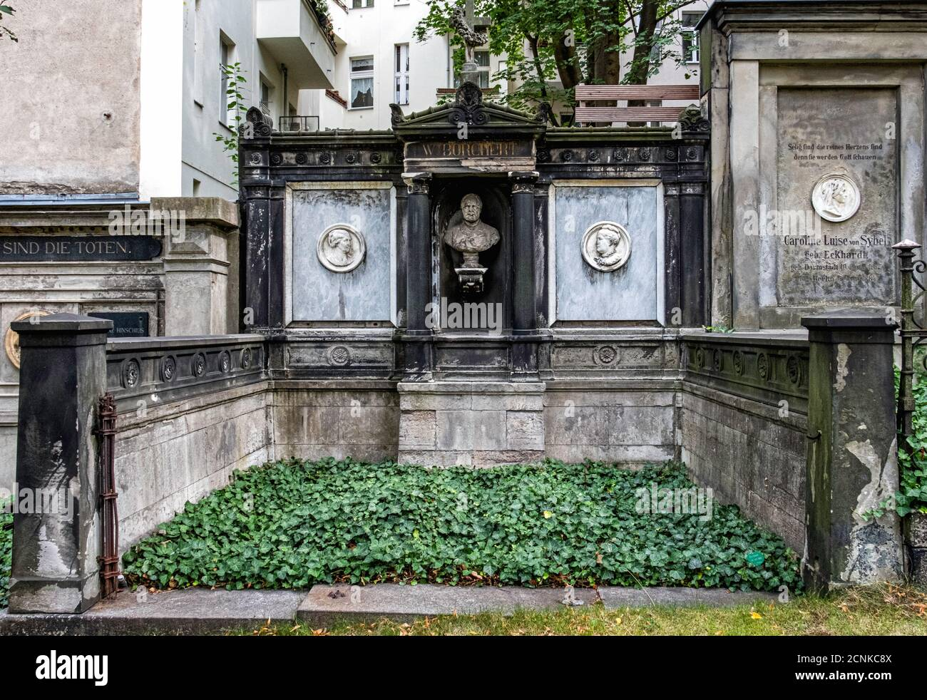 Alter St. Matthäus Kirchhof .Old Saint Matthew's Cemetery,Schöneberg-Berlin Stock Photo