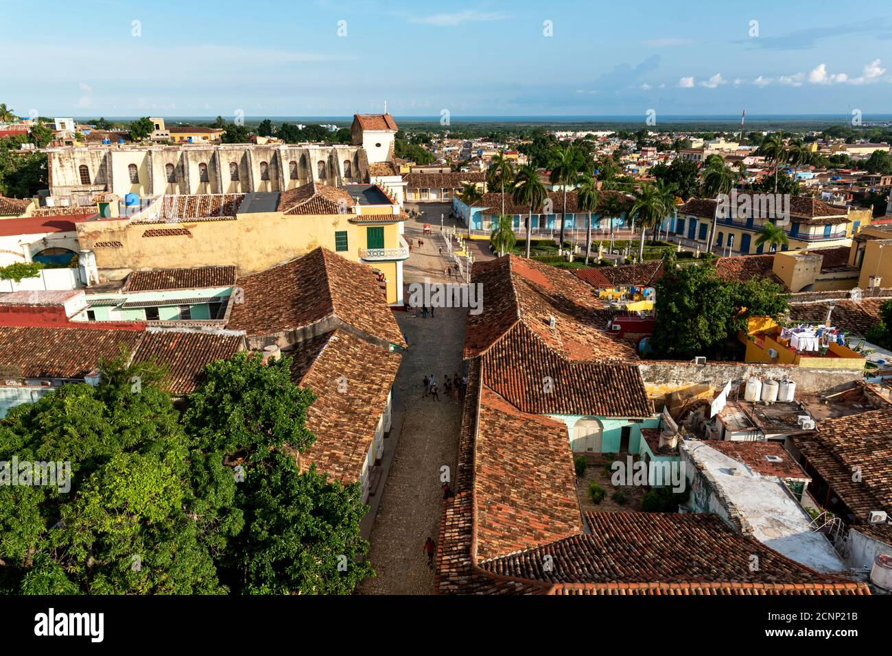 August 24, 2019: Views over Trinidad from the tower of St Francis Assisi convent. Trinidad, Cuba Stock Photo