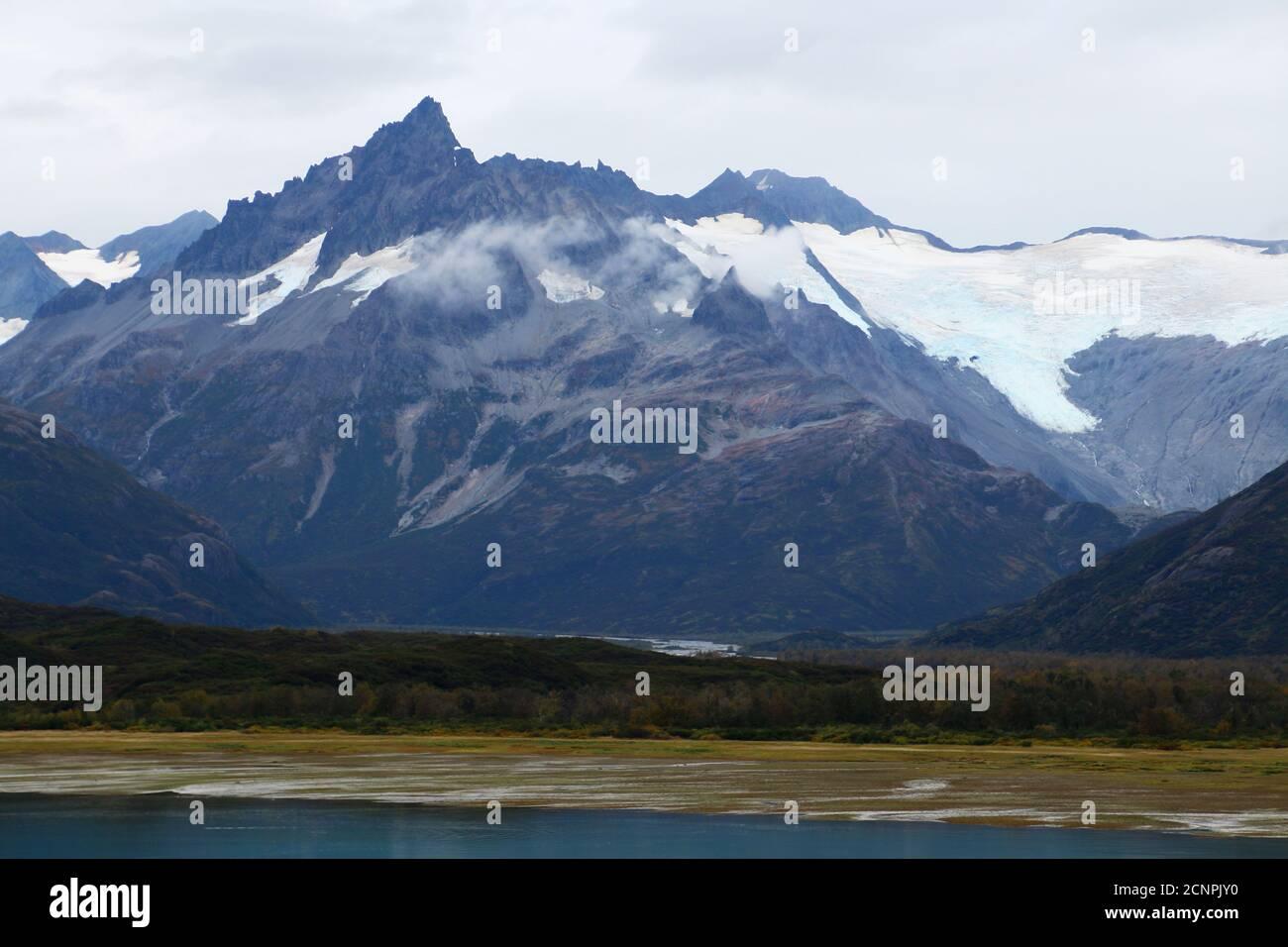 Landscape in the Kukat Bay Katmai National Park, Alaska, Stock Photo