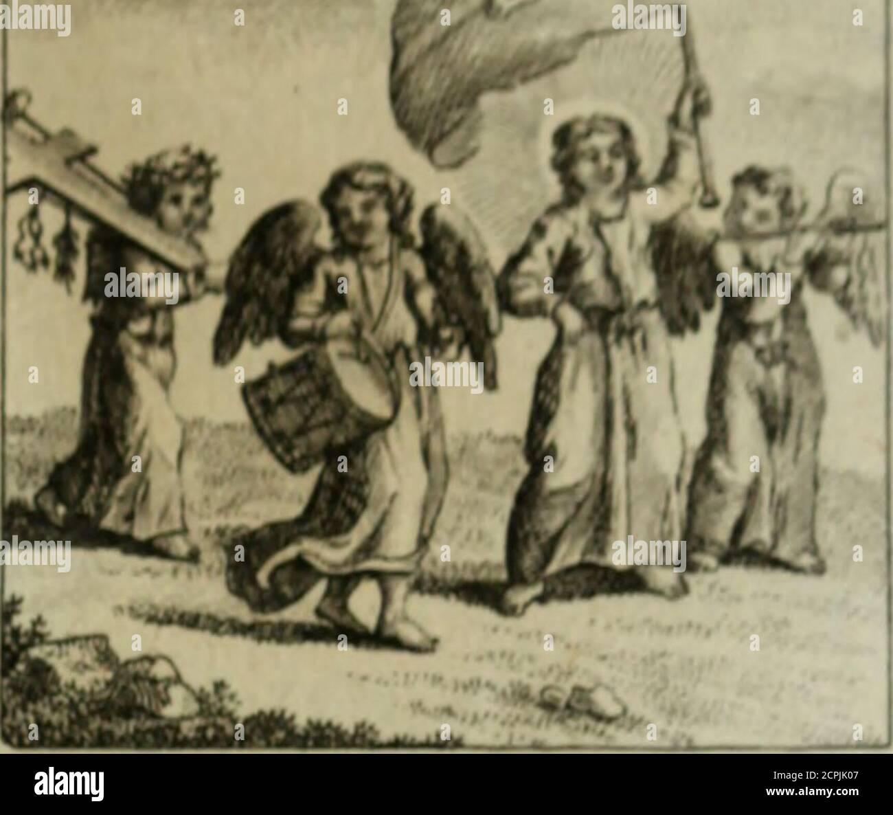 . L'ame amante de son Dieu, représentée dans les emblemes de Hermannus Hugo, et dans ceux d'Othon Vaenius sur l'amour divin. Avec des figures nouvelles accompagnées de vers qui en font l'application aux dispositions les plus essentielles de la vie intérieure .  hj. Z^/*/a mij/auJi?) mort^ Stock Photo