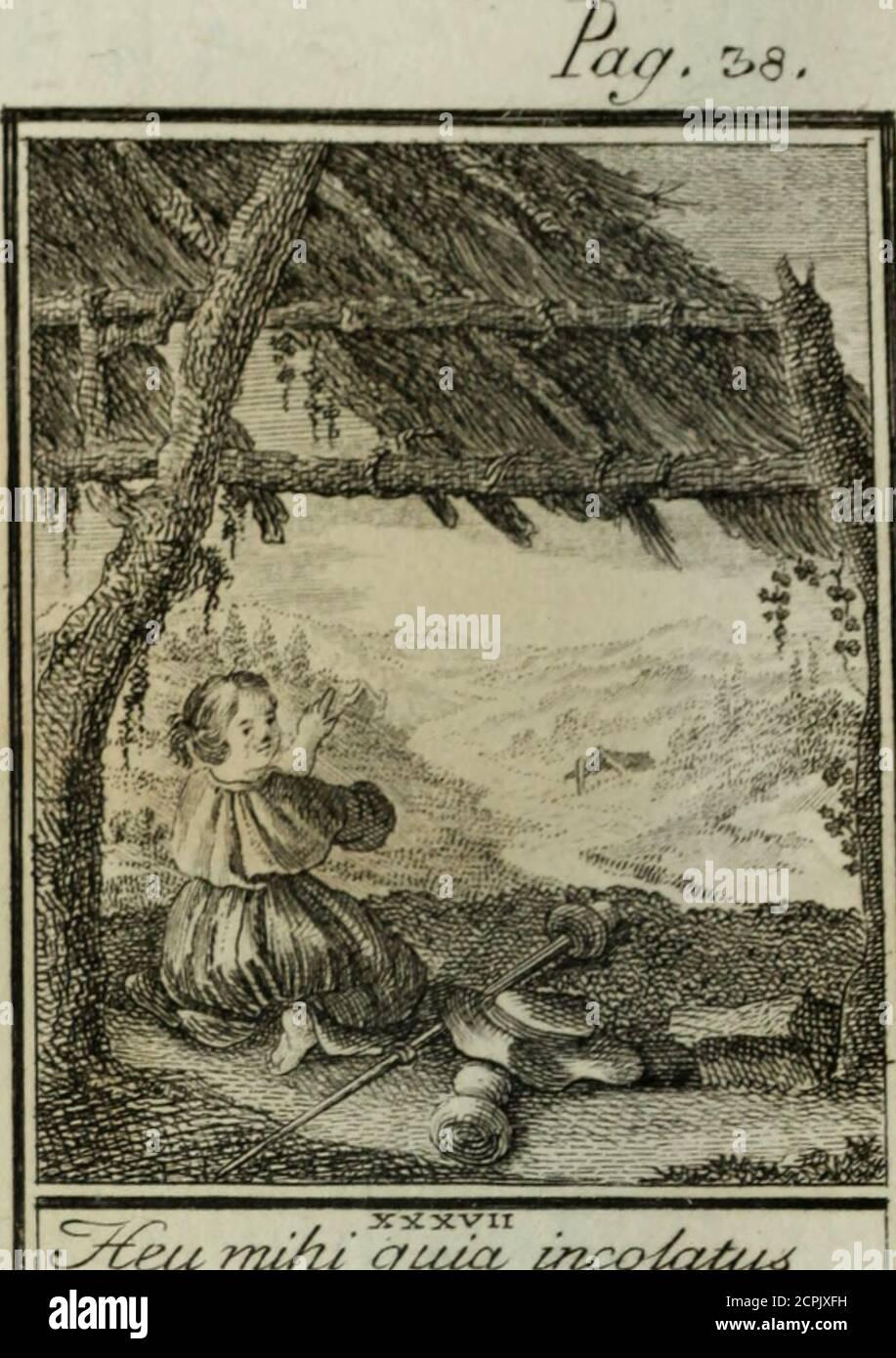 . L'ame amante de son Dieu, représentée dans les emblemes de Hermannus Hugo, et dans ceux d'Othon Vaenius sur l'amour divin. Avec des figures nouvelles accompagnées de vers qui en font l'application aux dispositions les plus essentielles de la vie intérieure . JXXxvir <LyTteu rniÂi cjuIcl imco/œIu^ Stock Photo