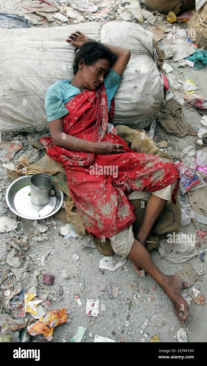 Poor indian women