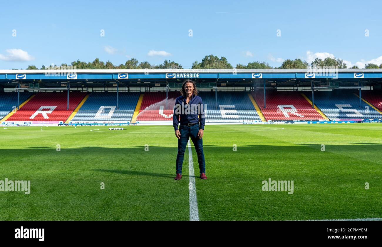 Blackburn, UK. 19th Sep, 2020. Wycombe Wanderers manager Gareth Ainsworth during the Sky Bet Championship behind closed doors match between Blackburn Rovers and Wycombe Wanderers at Ewood Park, Blackburn, England on 19 September 2020. Photo by Andy Rowland. Credit: PRiME Media Images/Alamy Live News Stock Photo