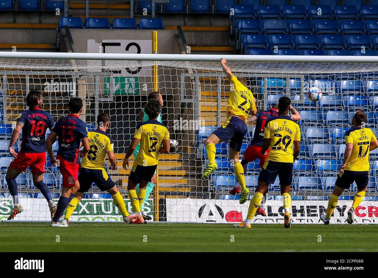 Oxford, UK. 19th Sep, 2020. The visitors with an early attack during the Sky Bet League 1 behind closed doors match between Oxford United and Sunderland at the Kassam Stadium, Oxford, England on 19 September 2020. Photo by Nick Browning/PRiME Media Images. Credit: PRiME Media Images/Alamy Live News Stock Photo
