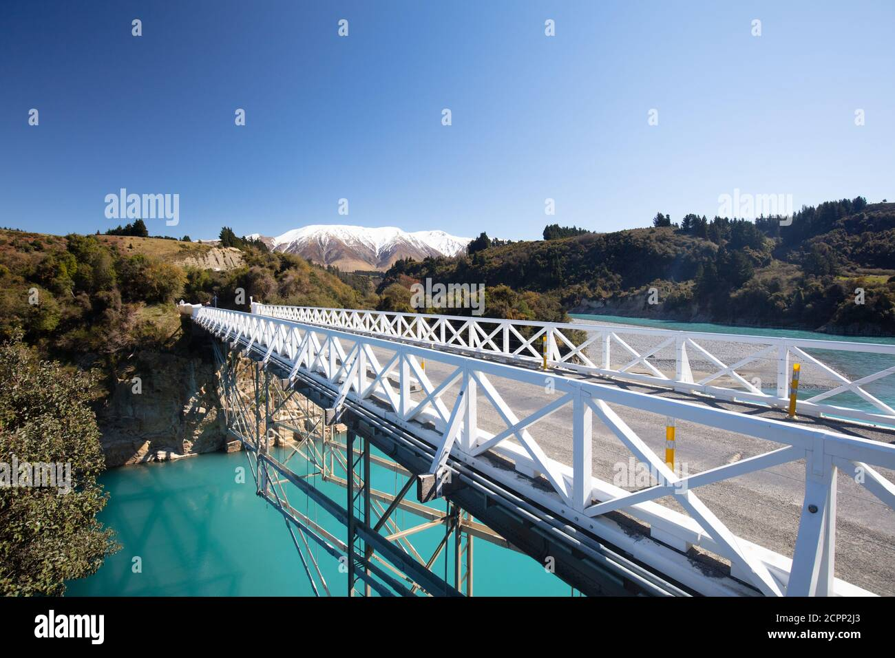 Rakaia Gorge in New Zealand Stock Photo