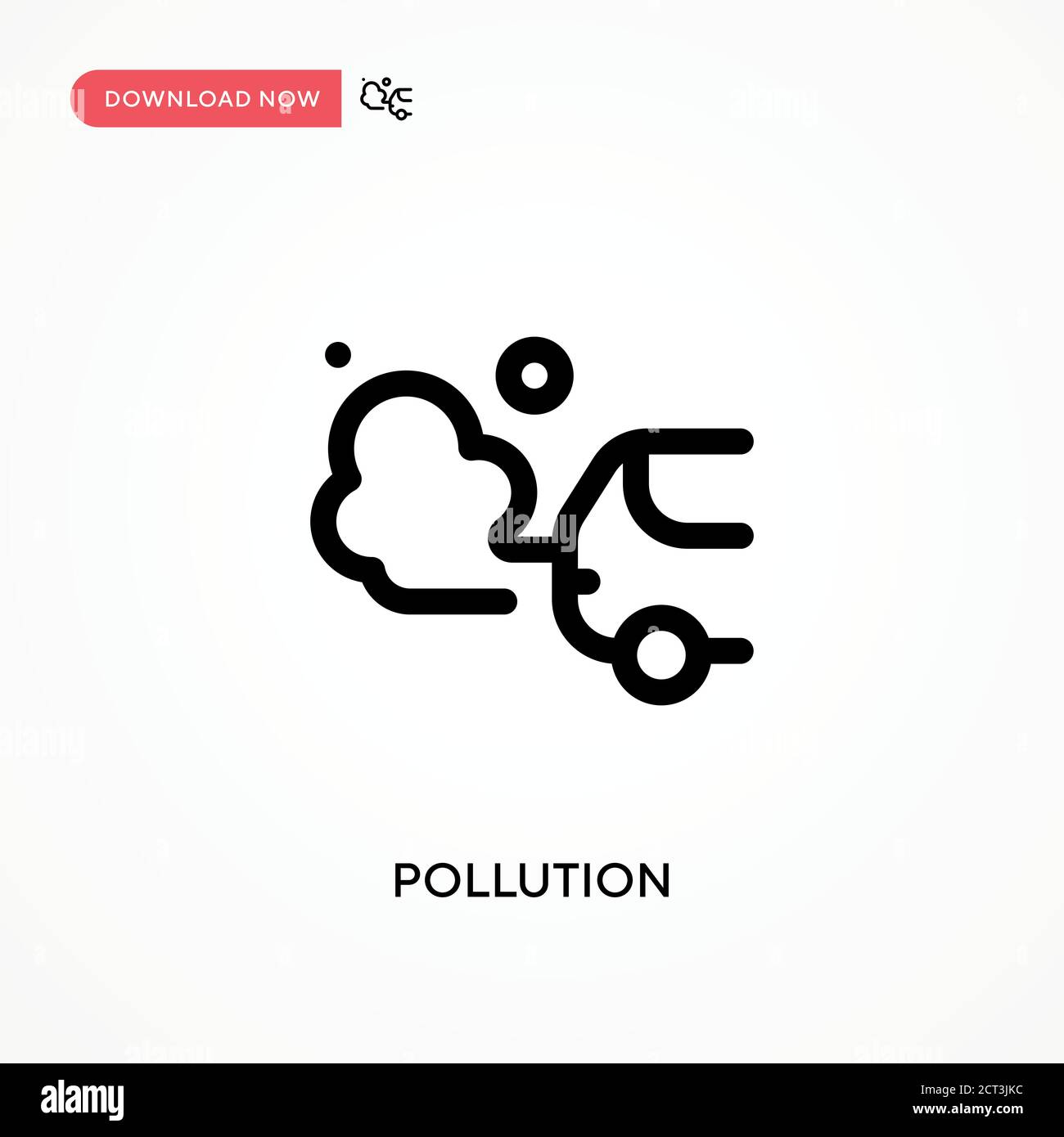 Pollution Simple vector icon. Modern, simple flat vector illustration for web site or mobile app Stock Vector