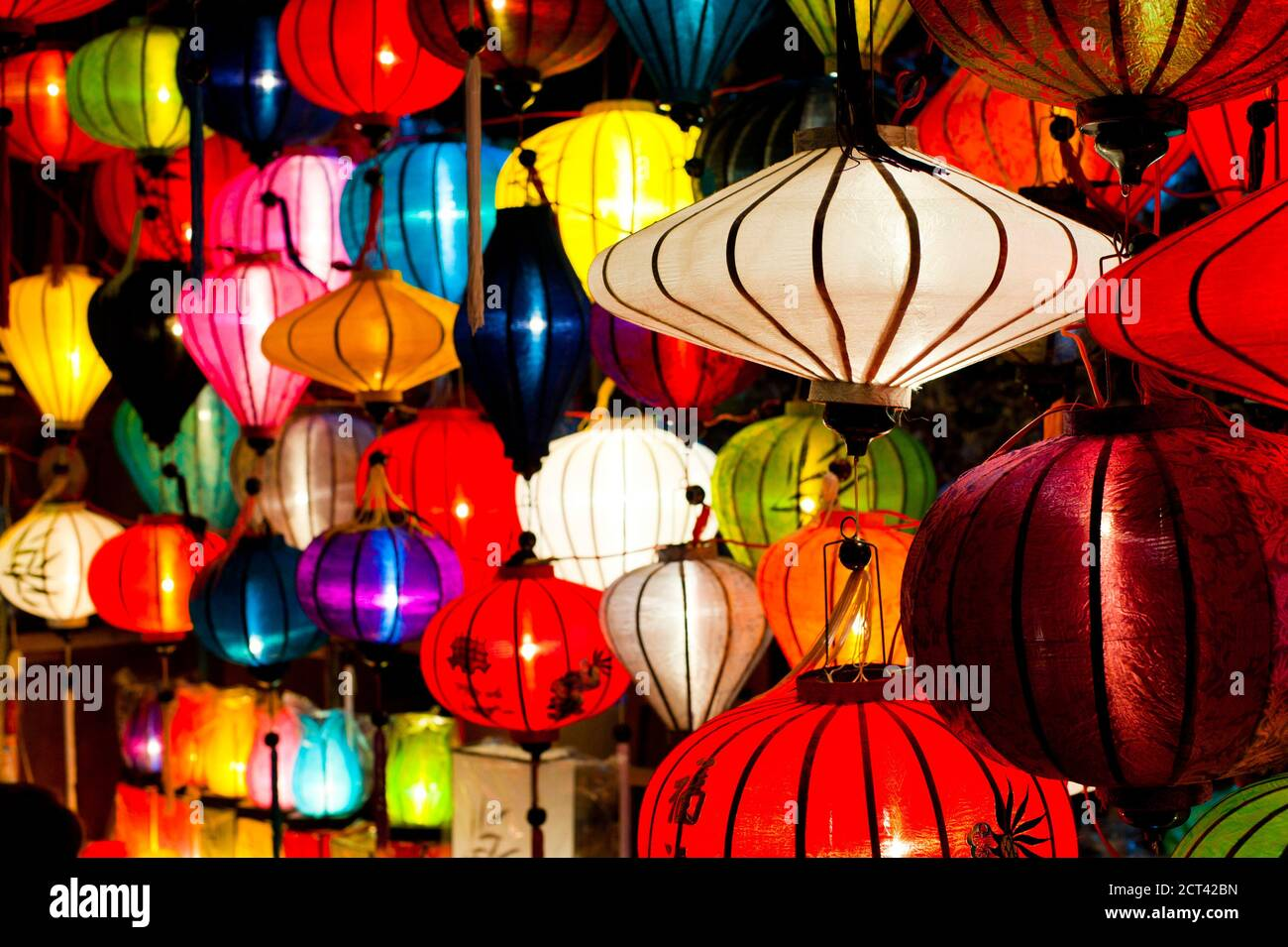 Chinese Lanterns At The Full Moon Festival At Hoi An Vietnam Southeast Asia Stock Photo Alamy