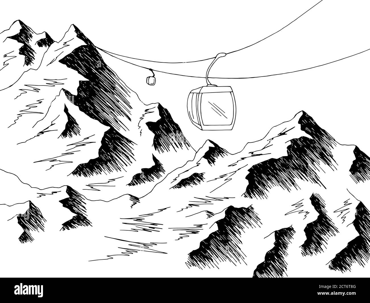 Landscape Mountain Sketch High Resolution Stock Photography And Images Alamy Find & download the most popular mountain drawing vectors on freepik free for commercial use high quality images made for creative projects. https www alamy com cable car graphic mountain black white landscape sketch illustration vector image376320240 html
