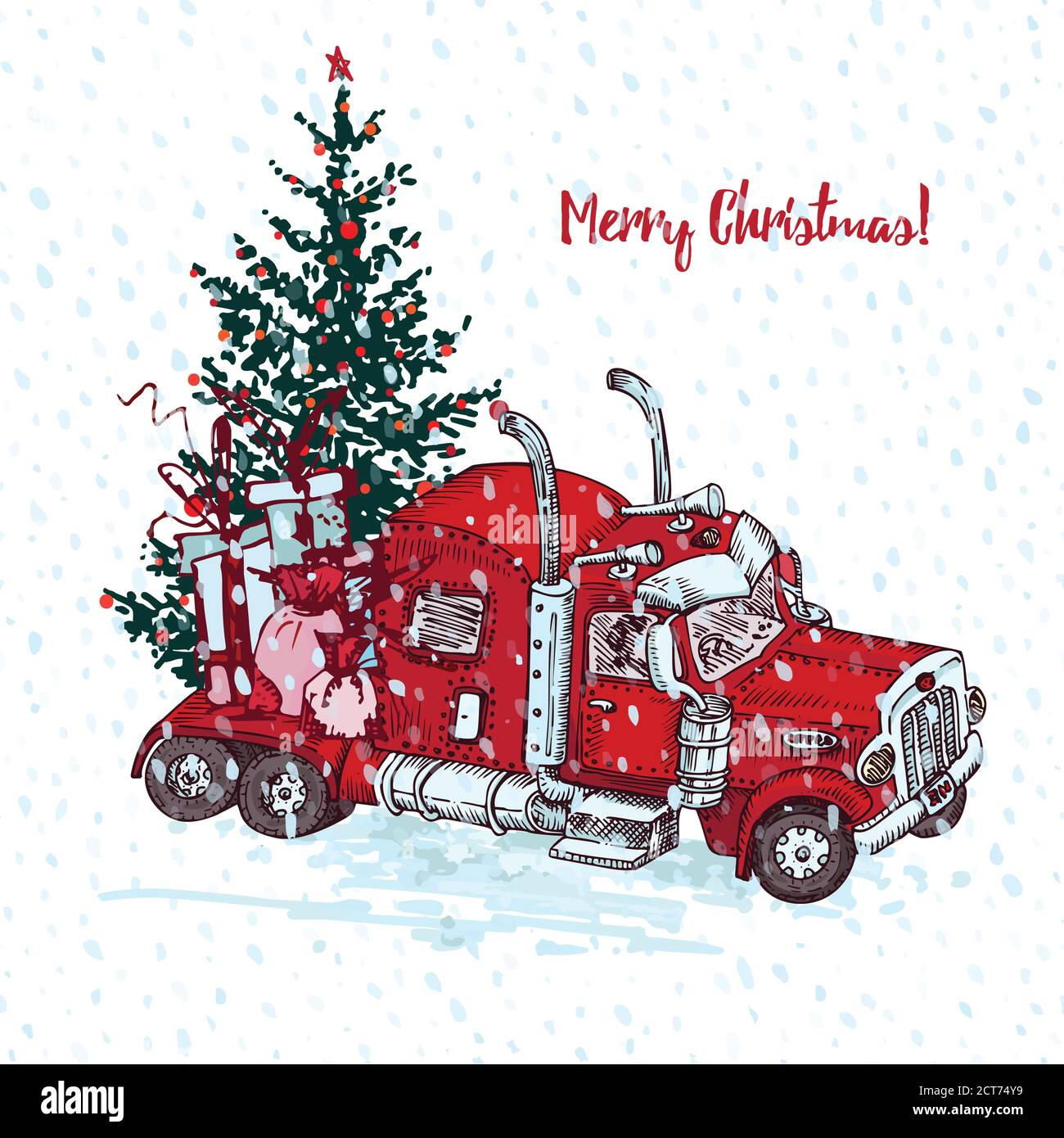 Page 3 Vintage Red Truck Snow High Resolution Stock Photography And Images Alamy