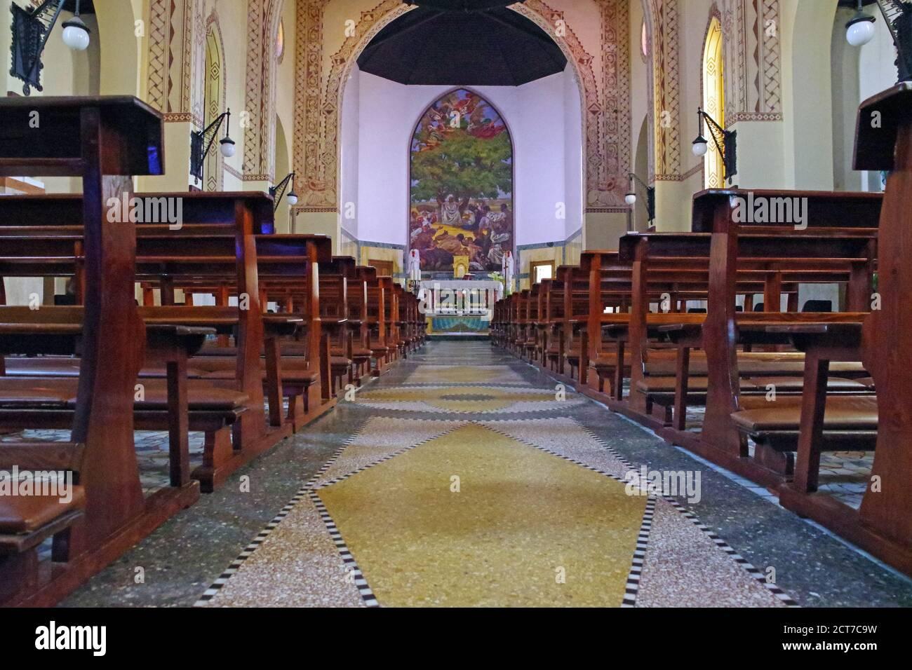 Arborea, Sardinia, Italy. The Holy Redeemerr church Stock Photo