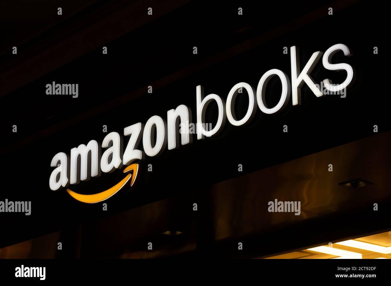 Sign of Amazon Books store Stock Photo