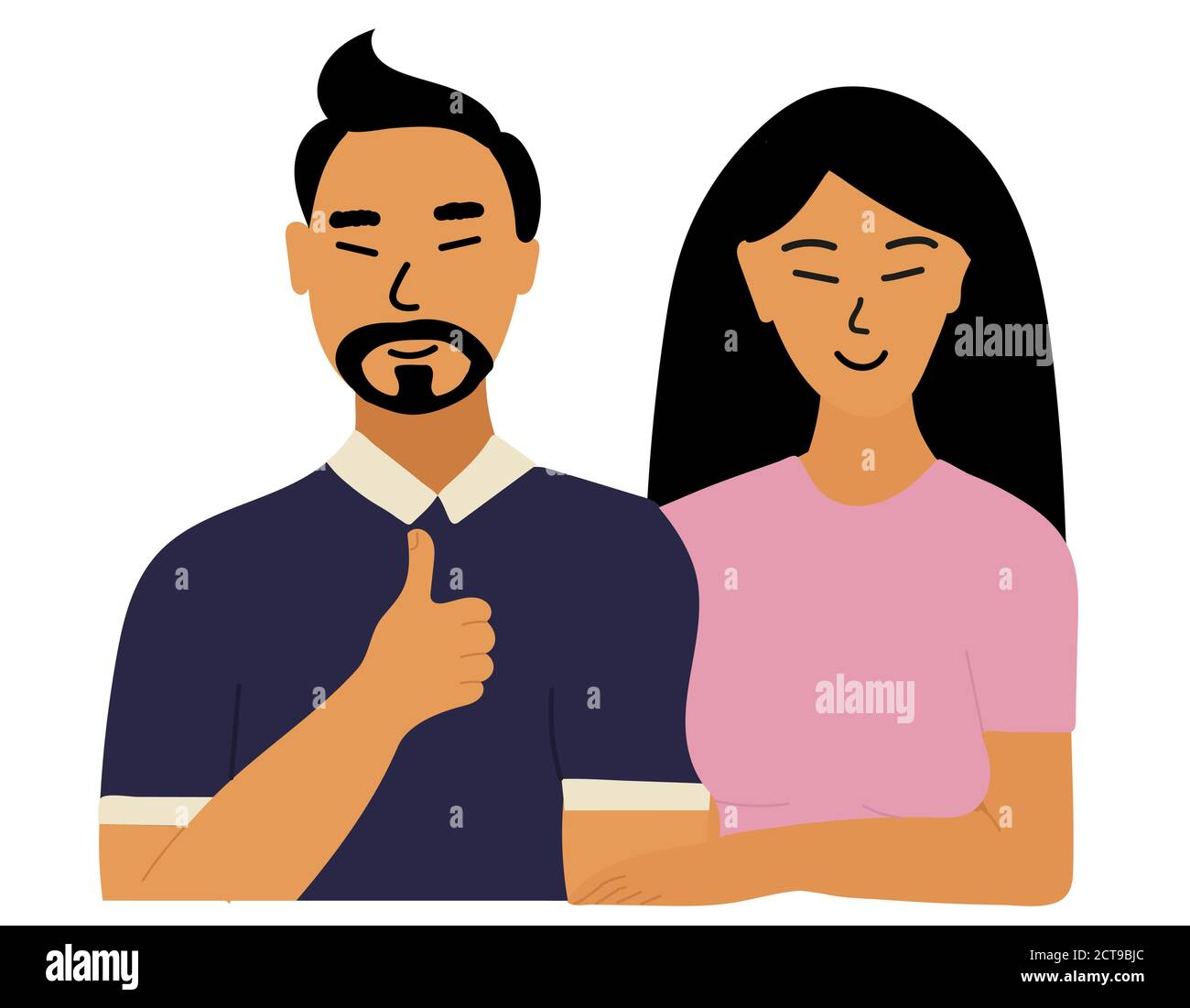 Chinese Man Woman Cartoon Couple High Resolution Stock Photography And Images Alamy