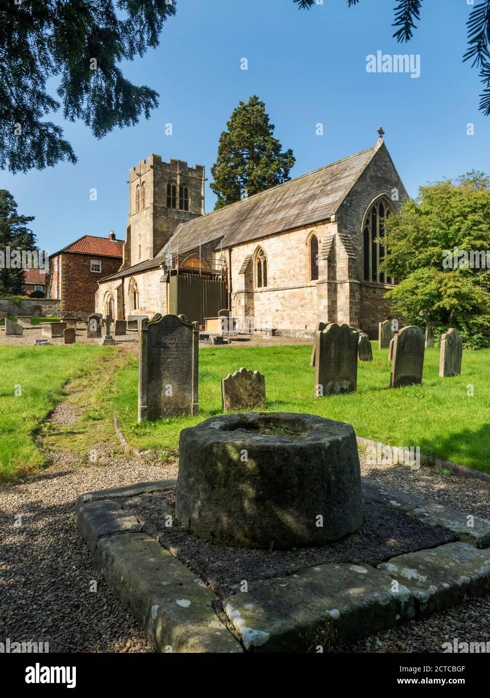 Church of St Mary a grade I listed building in Goldsborough near Knaresborough North Yorkshire England Stock Photo
